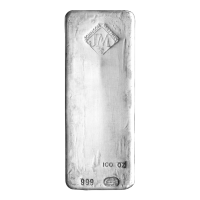 100 oz New Johnson Matthey Silver Bar