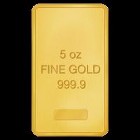5 oz ausgewählter Goldbarren - reines Gold
