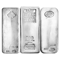 100 oz Pure Assorted Silver Bar