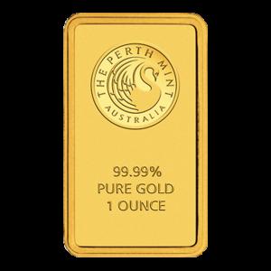 Barra de Oro de la Casa de la Moneda de Perth de 1 oz