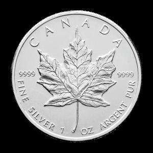 1 oz Silbermünze kanadisches Ahornblatt Zufallsjahr