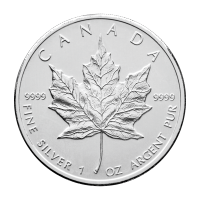 1 oz Pre-owned Canadian Maple Leaf Silver Coin