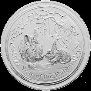 1 kg   kilo 2011 Lunar Year of the Rabbit Silver Coin