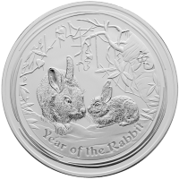 1 kg 2011 Year of the Rabbit Silver Coin