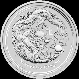 1 kg | kilo 2012 Lunar Year of the Dragon Silver Coin