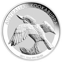10 oz 2011 Australian Kookaburra Silver Coin