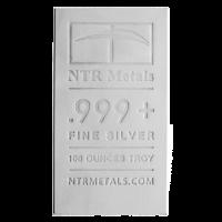 100 oz Silberbarren NTR