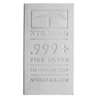 100 oz New NTR Silver Bar