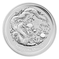 1 oz 2012 Year of the Dragon Silver Coin