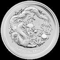10 oz Silbermünze Jahr des Drachen Mondserie 2012