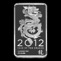 10 oz NTR Year of the Dragon Silver Bar