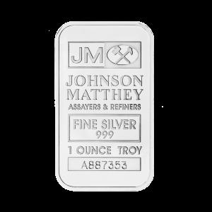 Lingot d'argent Johnson Matthey de 1 once
