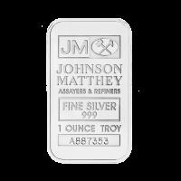 Barra de Plata Johnson Matthey de 1 oz