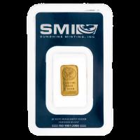 1 gram Sunshine Mint Gold Bar