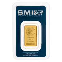 5 g Sunshine Mint Gold Wafer Bar