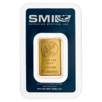 10 g Sunshine Mint Gold Wafer Bar