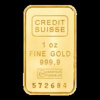 Barra de Oro Credit Suisse de 1 oz