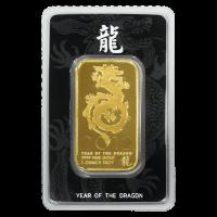 1 oz NTR Year of the Dragon Gold Bar