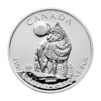 1 oz 2011 Canadian Timber Wolf Silver Coin