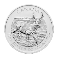 1 oz 2013 Canadian Pronghorn Antelope Silver Coin | Toned and Spotted
