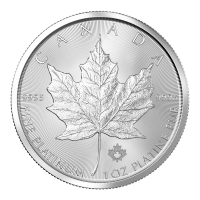 1 oz Willekeurig  Jaar Canadian Maple Leaf Platina Munt