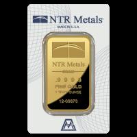 1 oz dünner Goldbarren - NTR