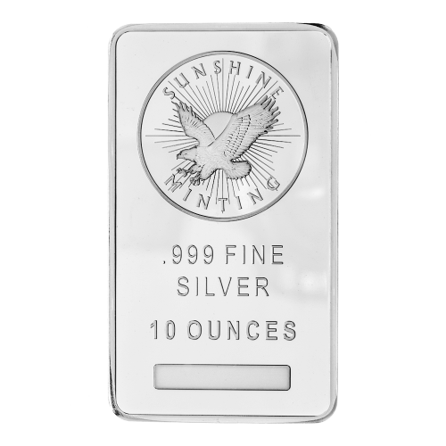 Sunshine Minting logo - .999 Fine Silver - 10 Ounces