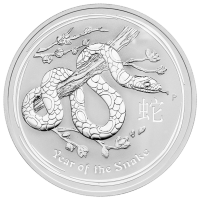 10 oz 2013 Lunar Year of the Snake Silver Coin