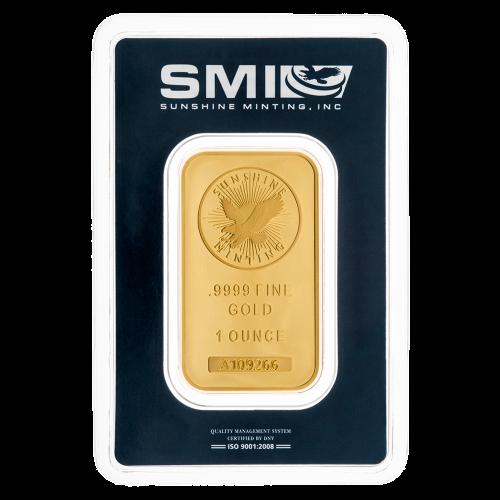 Sunshine Minting logo - .9999 Fine Gold - 1 Ounce