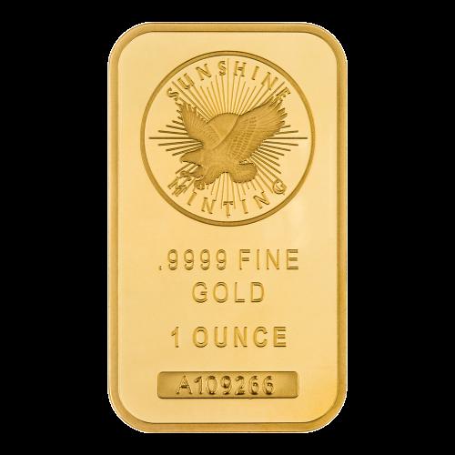 1 oz Sunshine Mint Gold Wafer Bar
