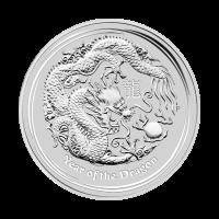 1/2 oz 2012 Lunar Year of the Dragon Silver Coin