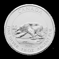1.5 oz 2013 Canadian Polar Bear Silver Coin