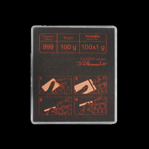 100 g (100 x 1 g) Valcambi Silver CombiBar