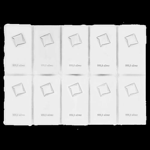 Valcambi Suisse - 10 g - fine silver 999,0 - Essayeur Fondeur CHI
