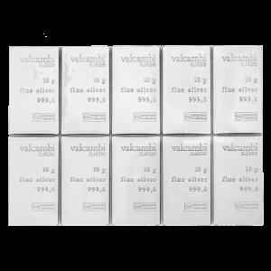 100 gram (10 x 10 g) Valcambi Silver CombiBar