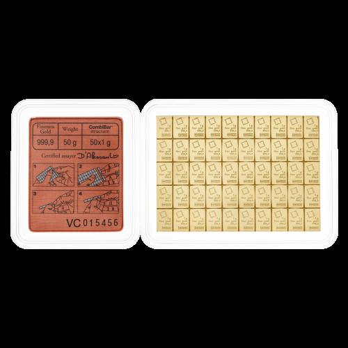 50 g (50 x 1 g) Valcambi Gouden CombiBaar
