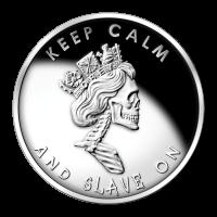 1 oz Slave Queen Silver Special BU Proof Round