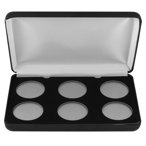 Leatherette Coin Display Box - 6 coins