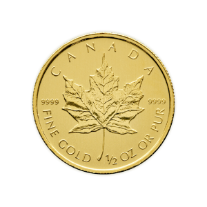 1/2 oz Willekeurig Jaar Canadian Maple Leaf Gouden Munt