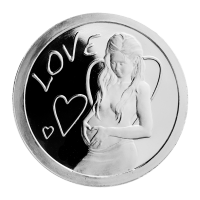 1 oz 2013 Love Silver Proof-like Round