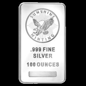 100 oz Sunshine Mint Silver Bar