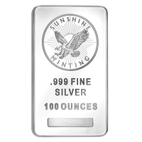 100 oz Sunshine Mint Silver Bar