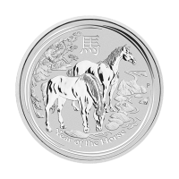 1/2 oz 2014 Lunar Year of the Horse Silver Coin