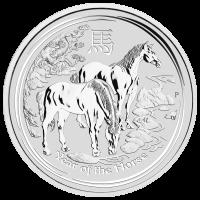 5 oz Silbermünze Mondserie Jahr des Pferdes 2014