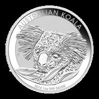 Moneda de Plata Koala Australiano 2014 de 1 oz