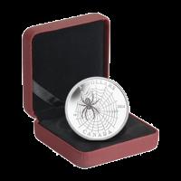 Animales arquitectos 2014 de 1/4 de oz: Moneda de plata Araña y su Red