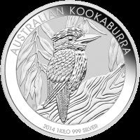 Moneda de Plata Cocaburra Australiano 2014 de 1 kilo