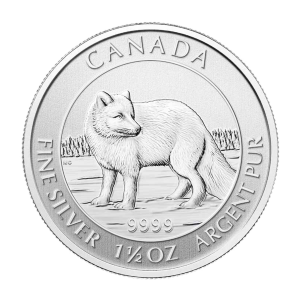 1.5 oz 2014 Canadian Arctic Fox Silver Coin