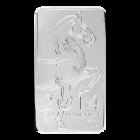 10 oz 2014 NTR Year of the Horse Silver Bar