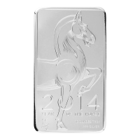 10 oz 2014 NTR Year of the Horse Silver Bar